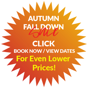 FURTHER DISCOUNTS APPLY FROM TIME TO TIME! - CLICK BOOK NOW/ VIEW DATES NOW FOR CURRENT PROMOTIONS!